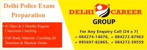 Delhi Police exam coaching