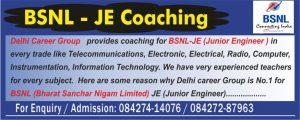 BSNL JE Exam Coaching